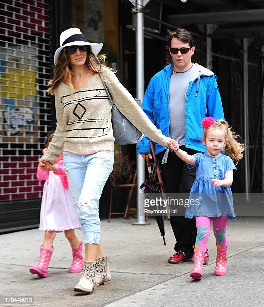 Actress Sarah Jessica Parker Matthew BroderickTabitha Broderick and Marion Broderick are seen in West Village on June 13 2013 in New York City