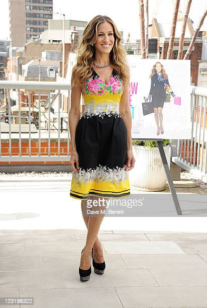 Actress Sarah Jessica Parker poses at a photocall for the film 'I Don't Know How She Does It' at The Soho Hotel on September 1 2011 in London England