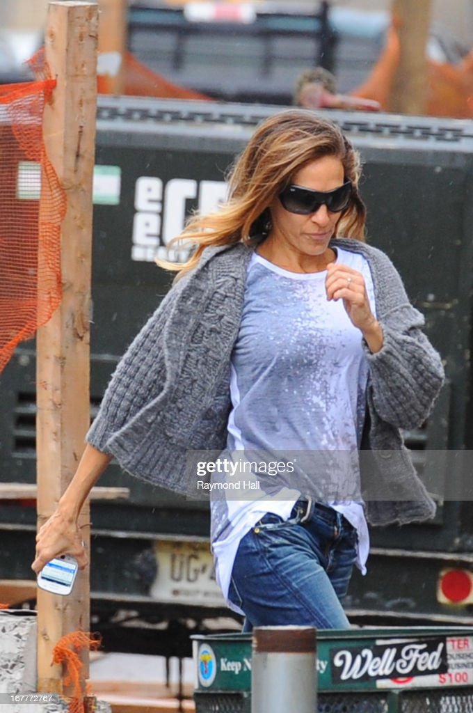 Actress Sarah Jessica Parker sighting in the West Village on April 30, 2013 in New York City.