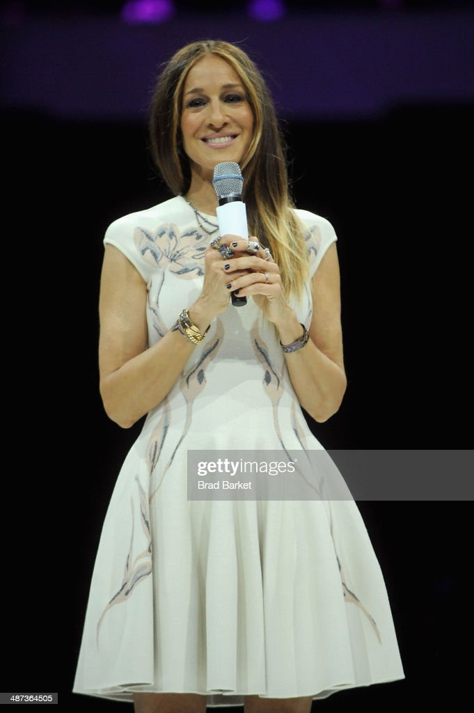 Actress <a gi-track='captionPersonalityLinkClicked' href=/galleries/search?phrase=Sarah+Jessica+Parker&family=editorial&specificpeople=201693 ng-click='$event.stopPropagation()'>Sarah Jessica Parker</a> speaks onstage at the 2014 AOL NewFronts at Duggal Greenhouse on April 29, 2014 in New York, New York.