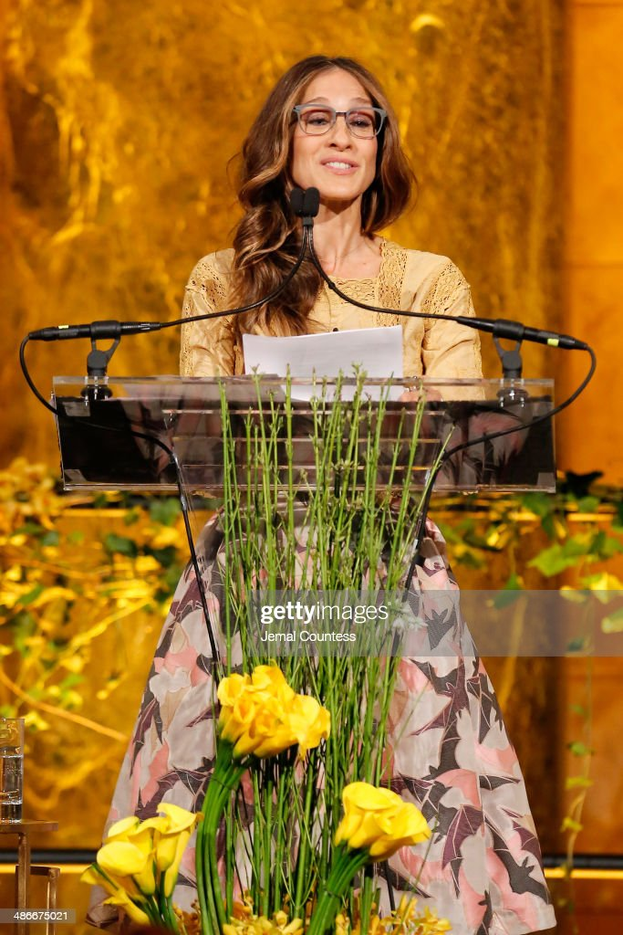 Actress Sarah Jessica Parker speaks onstage at Variety Power Of Women New York presented by FYI at Cipriani 42nd Street on April 25 2014 in New York...
