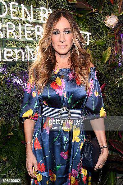 Actress Sarah Jessica Parker wearing a Rossella Jardini dress attends the L'Eden By PerrierJouet opening night in partnership with Vanity Fair at...