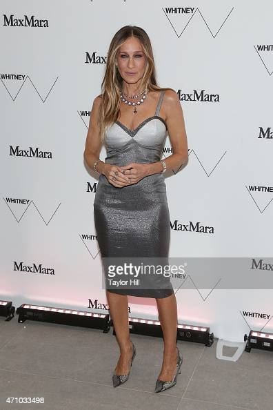 Actress Sarah Jessica Parker wearing Max Mara attends The Whitney Museum of American Art's opening dinner party hosted by Max Mara at the museum's...
