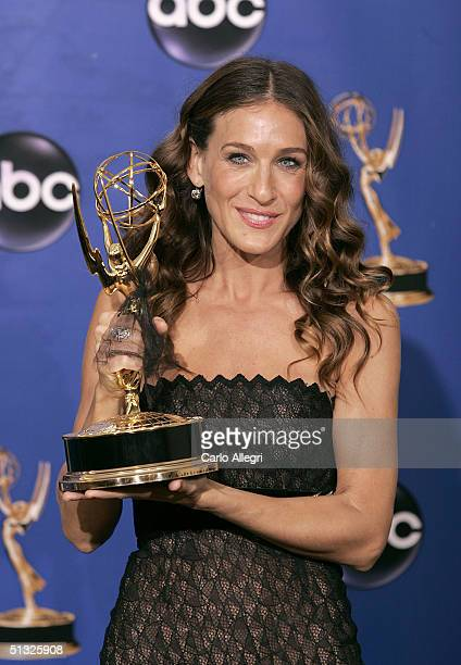 Actress Sarah Jessica Parker winner for Outstanding Lead Actress in a Comedy Series for 'Sex and the City' poses backstage during the 56th Annual...