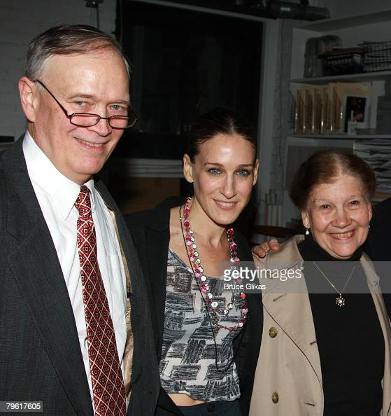 NEW YORK FEBRUARY 06 *EXCLUSIVE COVERAGE* Actress Sarah Jessica Parker with father Paul Forste and mother Barbra Forste attend the after party for...