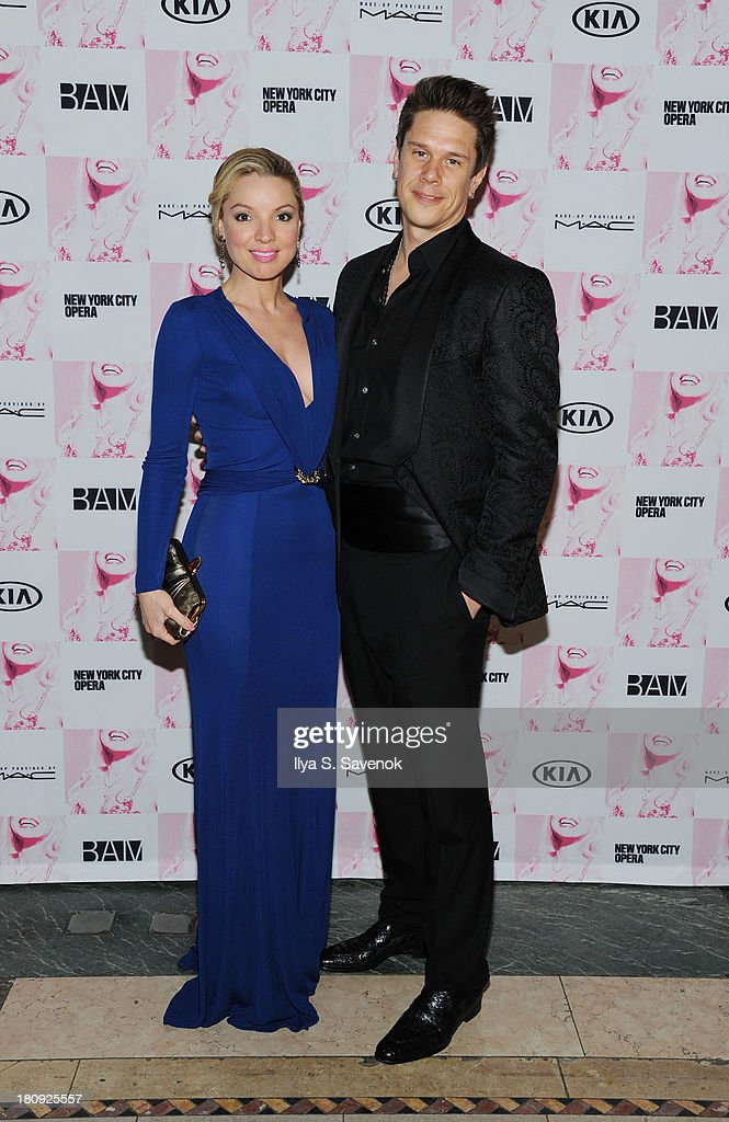 Actress Sarah Joy Miller and David Miller attend 'Anna Nicole The Opera' Opening Night at Skylight One Hanson on September 17, 2013 in New York City.