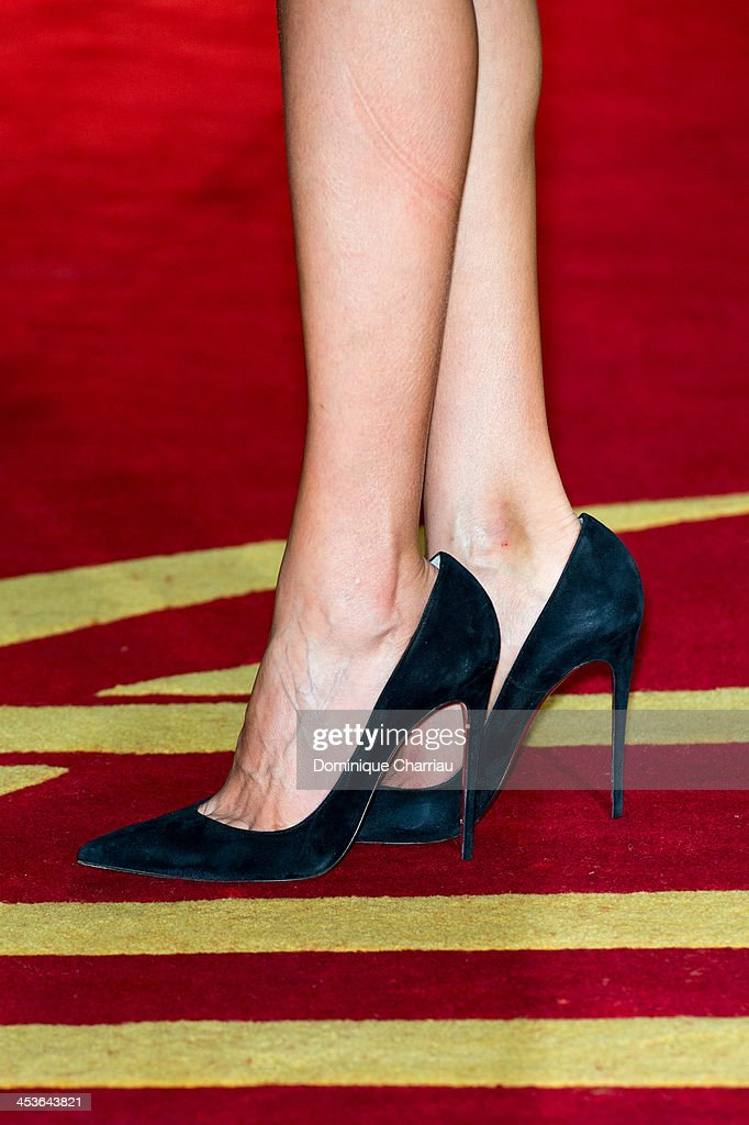 Actress <a gi-track='captionPersonalityLinkClicked' href=/galleries/search?phrase=Sarah+Kazemy&family=editorial&specificpeople=7448699 ng-click='$event.stopPropagation()'>Sarah Kazemy</a> (shoe detail) attends the 'Traitors' Photocall during the 13th Marrakech International Film Festival on December 4, 2013 in Marrakech, Morocco.