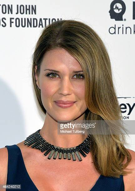 Actress Sarah Lancaster attends the 23rd Annual Elton John AIDS Foundation Academy Awards Viewing Party on February 22 2015 in Los Angeles California