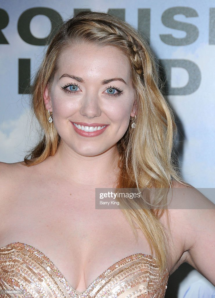 Actress Sarah Lindsey arrives at the Los Angeles premiere of 'Promised Land' held at Directors Guild Of America on December 6, 2012 in Los Angeles, California.