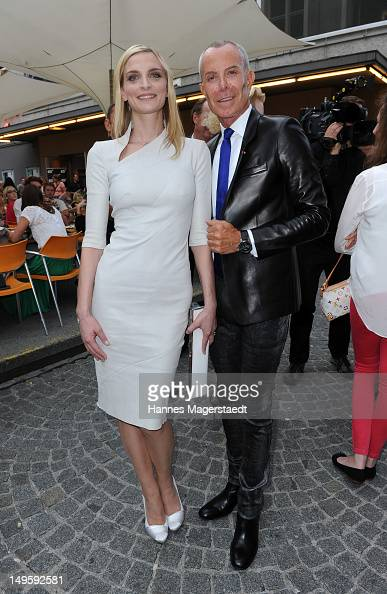 Actress Sarah Marshall and JeanClaude Jitrois attend the Montblanc Young Directors Project at the Repulic Restaurant on July 31 2012 in Salzburg...
