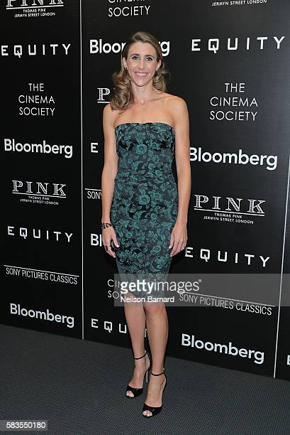 Actress Sarah Megan Thomas attends a screening of Sony Pictures Classics' 'Equity' hosted by The Cinema Society with Bloomberg and Thomas Pink at The...