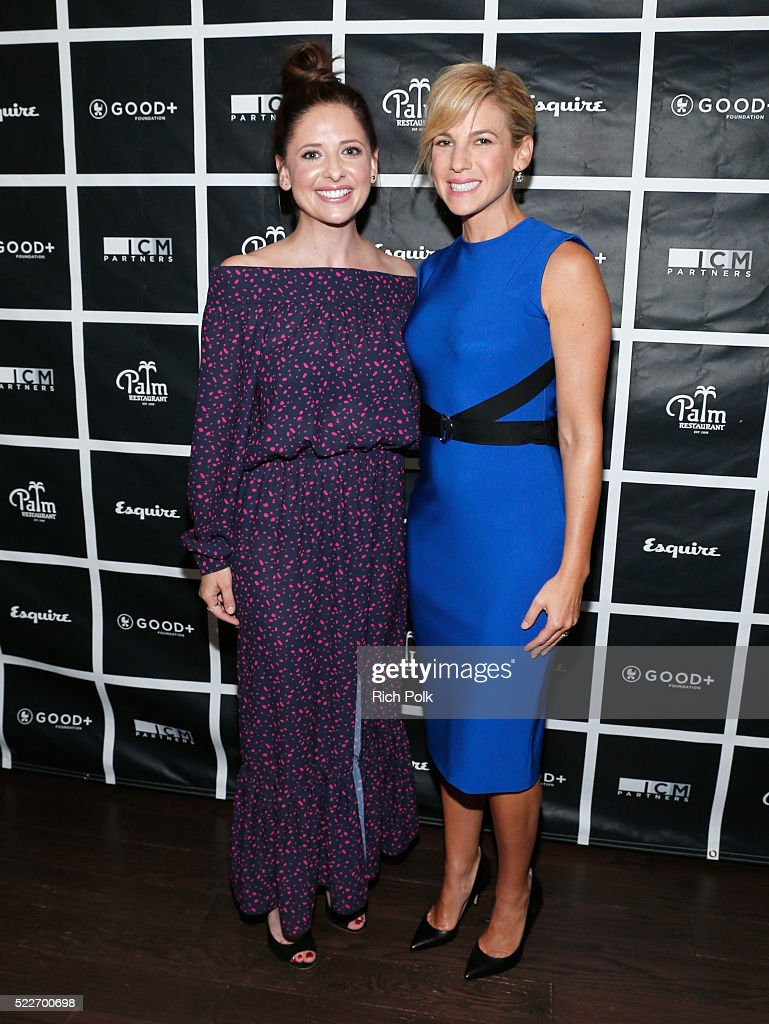 Actress Sarah Michelle Gellar and GOOD+ Foundation founder Jessica Seinfeld attend the 2nd annual Los Angeles Fatherhood Lunch to benefit GOOD+FOUNDATION at The Palm Restaurant on April 20, 2016 in Beverly Hills, California.