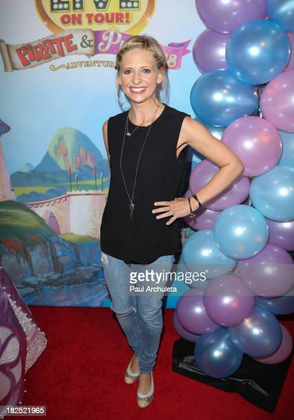Actress Sarah Michelle Gellar attends the Disney junior live on tour Pirate Princess Adventure at Dolby Theatre on September 29 2013 in Hollywood...