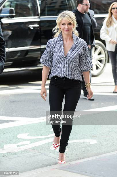 Actress Sarah Michelle Gellar enters the 'AOL Build' taping at the AOL Theater on April 03 2017 in New York City