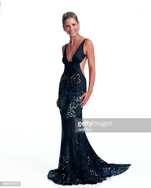 Actress Sarah Michelle Gellar is photographed for Movieline Magazine in 2002 in Los Angeles California