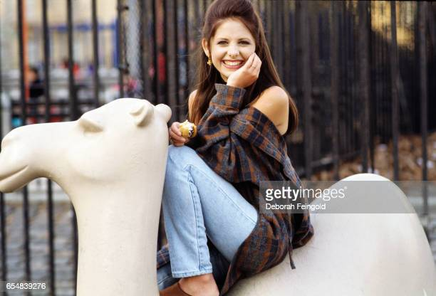 Actress Sarah Michelle Gellar poses in March 1994 in New York City New York 'r