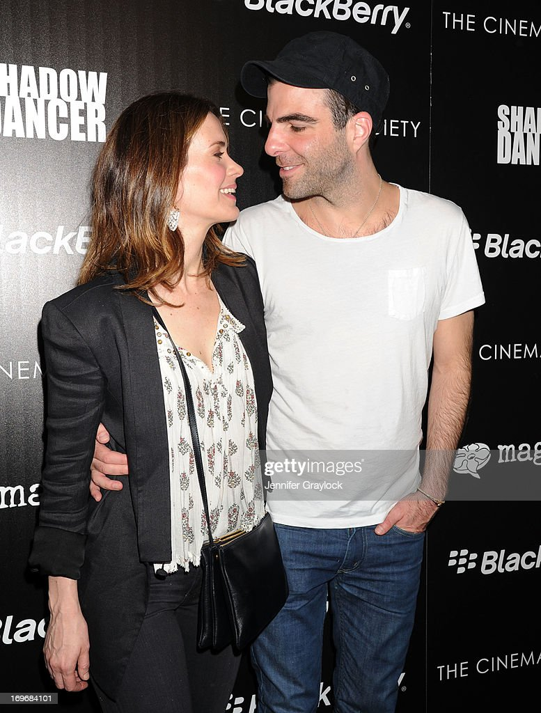 Actress <a gi-track='captionPersonalityLinkClicked' href=/galleries/search?phrase=Sarah+Paulson&family=editorial&specificpeople=220657 ng-click='$event.stopPropagation()'>Sarah Paulson</a> and Actor <a gi-track='captionPersonalityLinkClicked' href=/galleries/search?phrase=Zachary+Quinto&family=editorial&specificpeople=715956 ng-click='$event.stopPropagation()'>Zachary Quinto</a> attend The Cinema Society & BlackBerry Host A Screening Of Magnolia Pictures' 'Shadow Dancer' at Sunshine Landmark on May 30, 2013 in New York City.