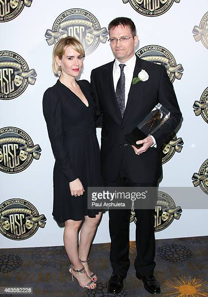 Actress Sarah Paulson and Cinematographer Jonathan Freeman attend the American Society Of Cinematographers 29th Annual Outstanding Achievement Awards...