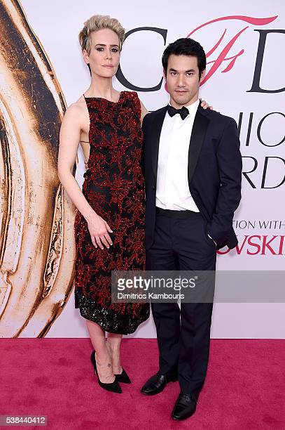 Actress Sarah Paulson and designer Joseph Altuzarra attend the 2016 CFDA Fashion Awards at the Hammerstein Ballroom on June 6 2016 in New York City