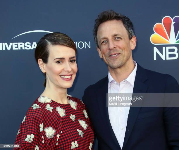 Actress Sarah Paulson and talk show host Seth Meyers attend NBC's 'Late Night with Seth Meyers' FYC event at the Television Academy on May 19 2017 in...