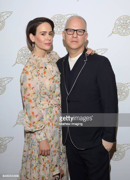 Actress Sarah Paulson and Television Showman of the Year honoree Ryan Murphy pose backstage at the 54th Annual ICG Publicists Awards at The Beverly...