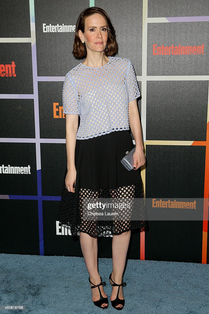 Actress <a gi-track='captionPersonalityLinkClicked' href=/galleries/search?phrase=Sarah+Paulson&family=editorial&specificpeople=220657 ng-click='$event.stopPropagation()'>Sarah Paulson</a> arrives at Entertainment Weekly's Annual Comic Con Celebration at Float at Hard Rock Hotel San Diego on July 26, 2014 in San Diego, California.