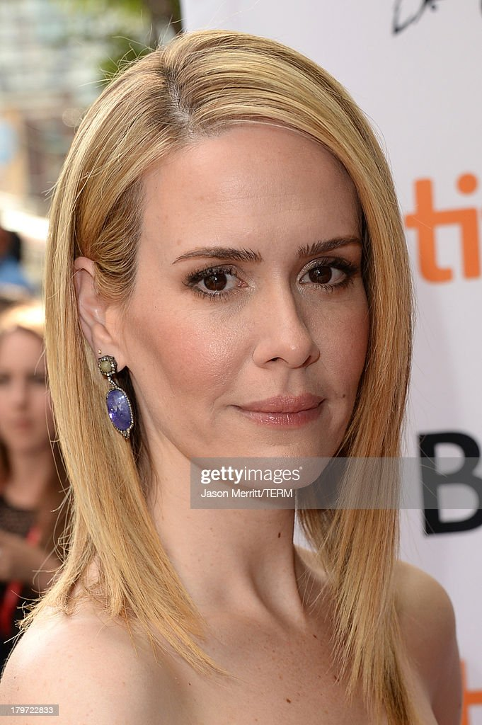 Actress Sarah Paulson arrives at the '12 Years A Slave' Premiere during the 2013 Toronto International Film Festival Princess of Wales Theatre on September 6, 2013 in Toronto, Canada.