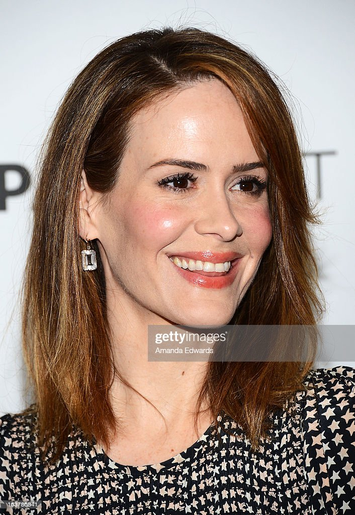 Actress Sarah Paulson arrives at the 30th Annual PaleyFest: The William S. Paley Television Festival - Closing Night Presentation honoring 'American Horror Story' at the Saban Theatre on March 15, 2013 in Beverly Hills, California.