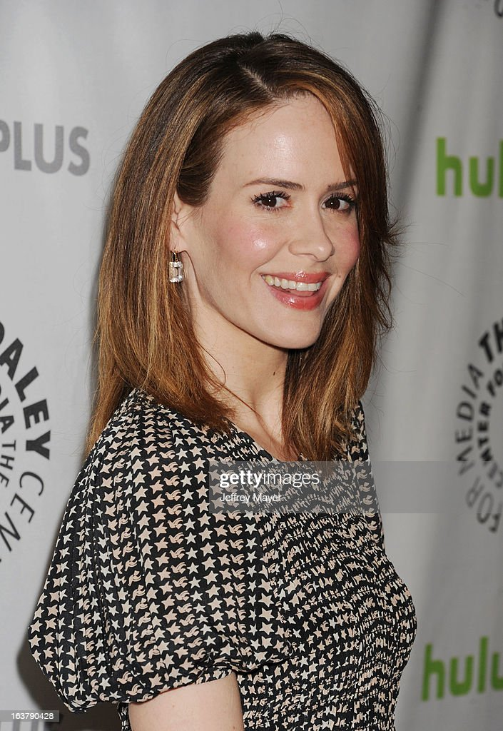 Actress Sarah Paulson arrives at the 30th Annual PaleyFest: The William S. Paley Television Festival - Closing Night Presentation honoring 'American Horror Story' at Saban Theatre on March 15, 2013 in Beverly Hills, California.