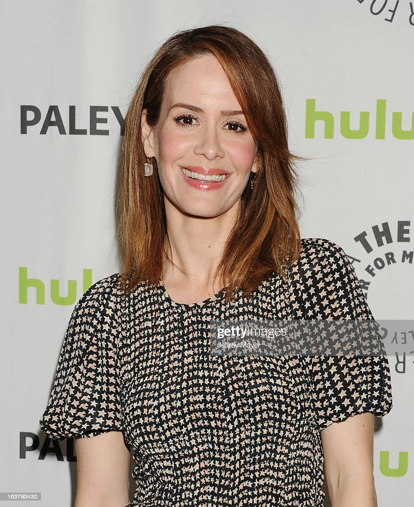 Actress <a gi-track='captionPersonalityLinkClicked' href=/galleries/search?phrase=Sarah+Paulson&family=editorial&specificpeople=220657 ng-click='$event.stopPropagation()'>Sarah Paulson</a> arrives at the 30th Annual PaleyFest: The William S. Paley Television Festival - Closing Night Presentation honoring 'American Horror Story' at Saban Theatre on March 15, 2013 in Beverly Hills, California.