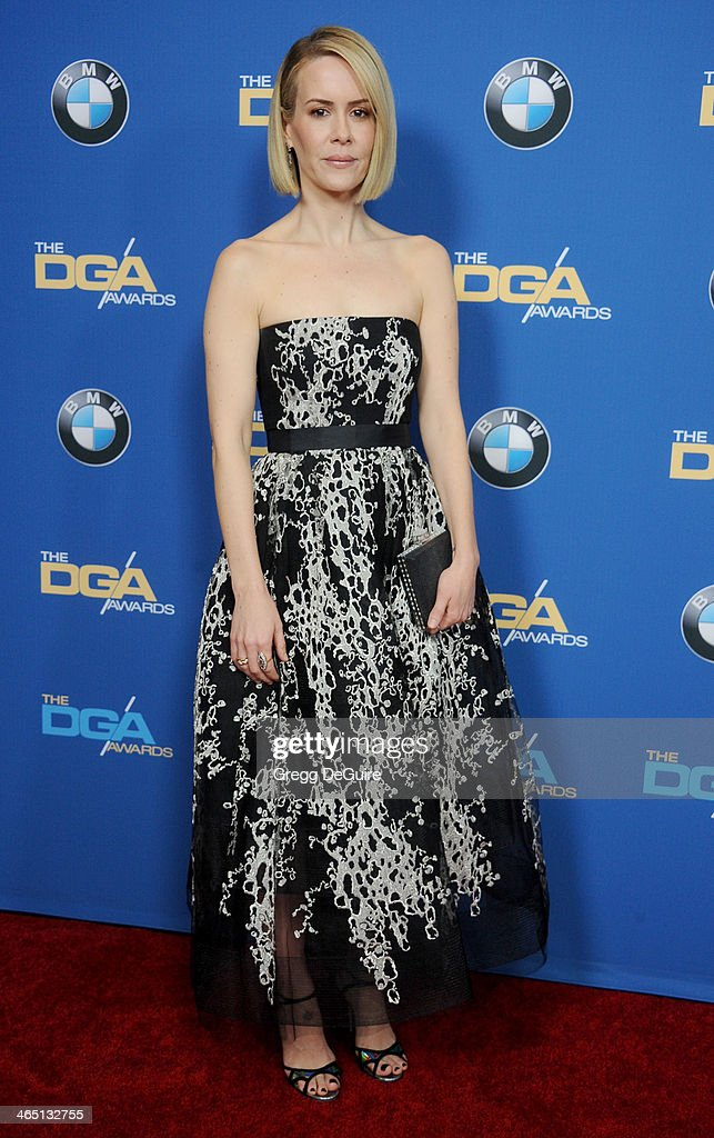 Actress Sarah Paulson arrives at the 66th Annual Directors Guild Of America Awards at the Hyatt Regency Century Plaza on January 25, 2014 in Century City, California.
