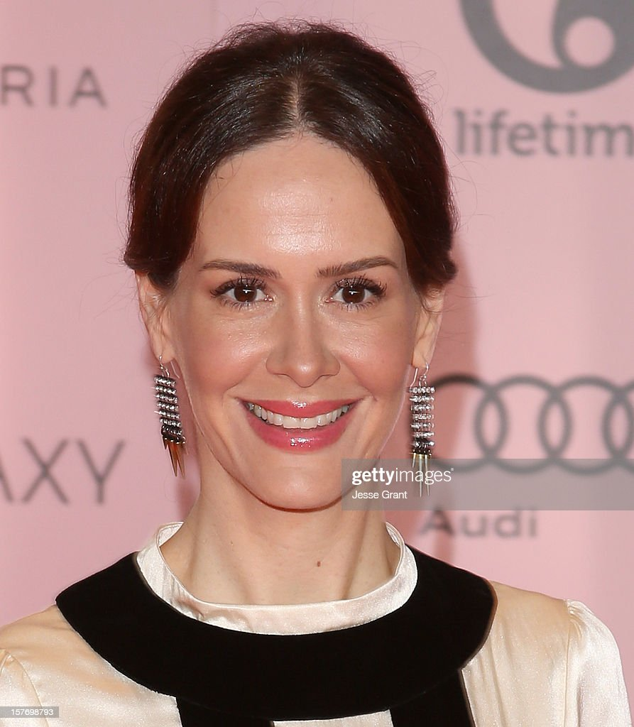 Actress <a gi-track='captionPersonalityLinkClicked' href=/galleries/search?phrase=Sarah+Paulson&family=editorial&specificpeople=220657 ng-click='$event.stopPropagation()'>Sarah Paulson</a> arrives at the Hollywood Reporter's 21st annual women in entertainment breakfast at The Beverly Hills Hotel on December 5, 2012 in Beverly Hills, California.