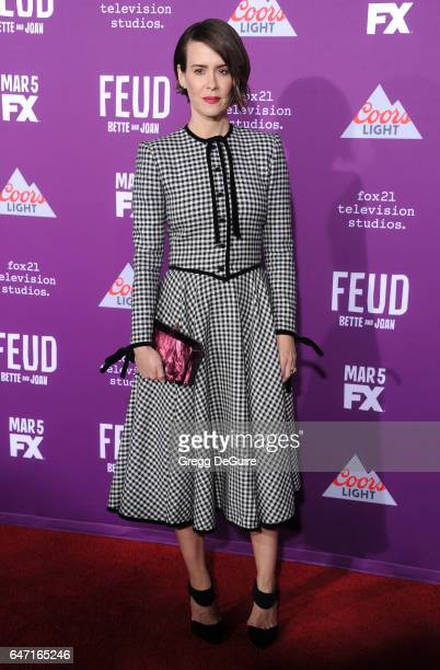 Actress Sarah Paulson arrives at the premiere of FX Network's 'Feud Bette And Joan' at Grauman's Chinese Theatre on March 1 2017 in Hollywood...