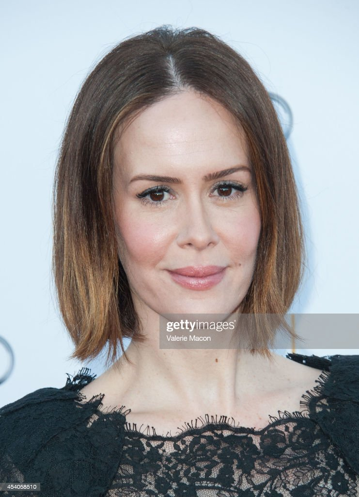Actress <a gi-track='captionPersonalityLinkClicked' href=/galleries/search?phrase=Sarah+Paulson&family=editorial&specificpeople=220657 ng-click='$event.stopPropagation()'>Sarah Paulson</a> arrives at the Television Academy's 66th Annual Emmy Awards Performers Nominee Reception at Spectra by Wolfgang Puck at the Pacific Design Center on August 23, 2014 in West Hollywood, California.