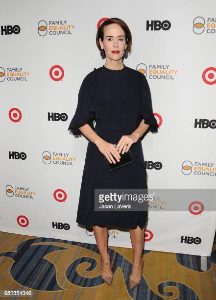 Actress Sarah Paulson attends Family Equality Council's annual Impact Awards at the Beverly Wilshire Four Seasons Hotel on March 11 2017 in Beverly...
