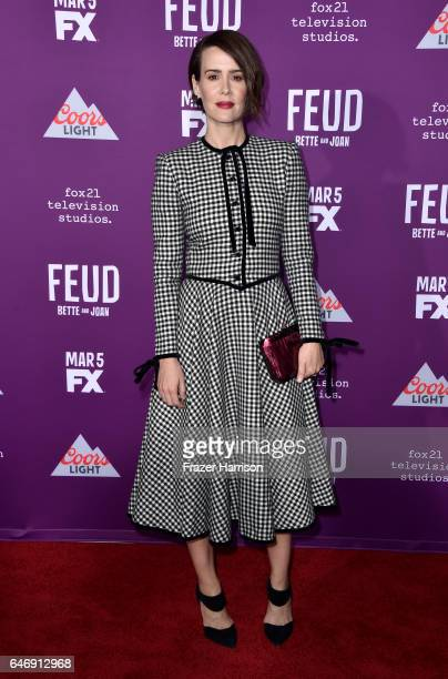 Actress Sarah Paulson attends FX Network's 'Feud Bette and Joan' premiere at Grauman's Chinese Theatre on March 1 2017 in Hollywood California