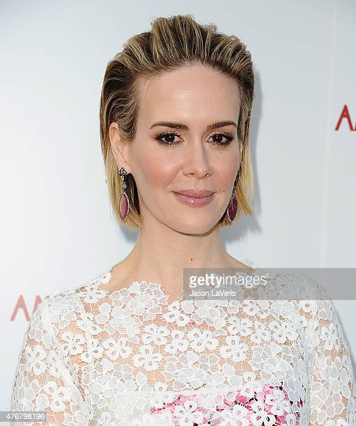 Actress Sarah Paulson attends FX's 'American Horror Story Freakshow' FYC special screening and QA at Paramount Studios on June 11 2015 in Los Angeles...