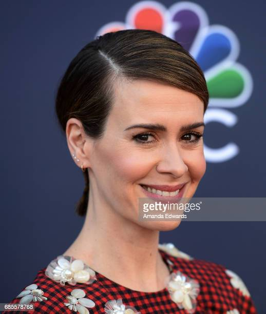 Actress Sarah Paulson attends NBC's 'Late Night With Seth Meyers' FYC Event at the Television Academy on May 19 2017 in Los Angeles California