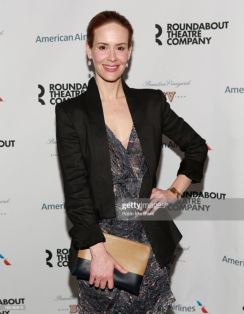 Actress <a gi-track='captionPersonalityLinkClicked' href=/galleries/search?phrase=Sarah+Paulson&family=editorial&specificpeople=220657 ng-click='$event.stopPropagation()'>Sarah Paulson</a> attends 'Talley's Folly' Opening Night at Laura Pels Theatre at the Harold & Miriam Steinberg Center for on March 5, 2013 in New York City.