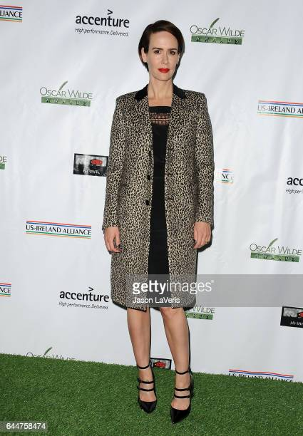 Actress Sarah Paulson attends the 12th annual Oscar Wilde Awards at Bad Robot on February 23 2017 in Santa Monica California