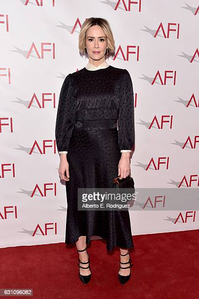 Actress Sarah Paulson attends the 17th annual AFI Awards at Four Seasons Los Angeles at Beverly Hills on January 6 2017 in Los Angeles California