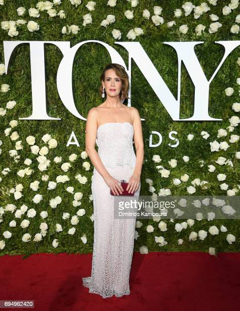 Actress Sarah Paulson attends the 2017 Tony Awards at Radio City Music Hall on June 11 2017 in New York City