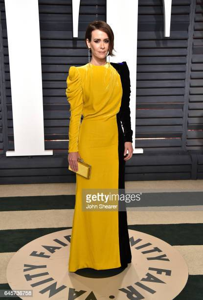 Actress Sarah Paulson attends the 2017 Vanity Fair Oscar Party hosted by Graydon Carter at Wallis Annenberg Center for the Performing Arts on...