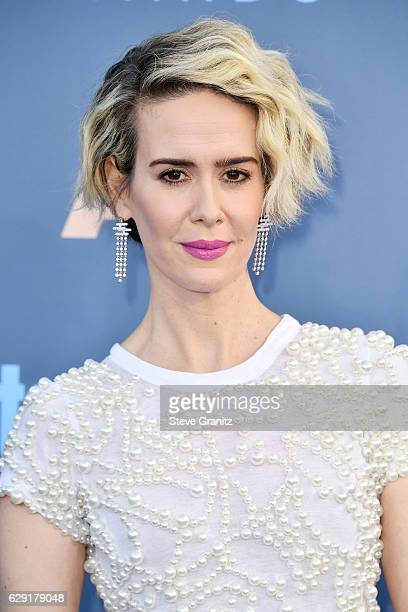 Actress Sarah Paulson attends The 22nd Annual Critics' Choice Awards at Barker Hangar on December 11 2016 in Santa Monica California