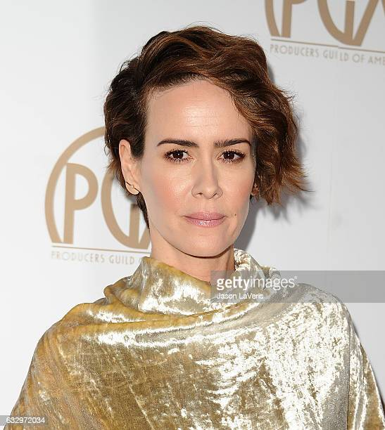 Actress Sarah Paulson attends the 28th annual Producers Guild Awards at The Beverly Hilton Hotel on January 28 2017 in Beverly Hills California
