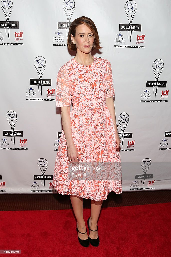Actress <a gi-track='captionPersonalityLinkClicked' href=/galleries/search?phrase=Sarah+Paulson&family=editorial&specificpeople=220657 ng-click='$event.stopPropagation()'>Sarah Paulson</a> attends the 29th Annual Lucille Lortel Awards at NYU Skirball Center on May 4, 2014 in New York City.