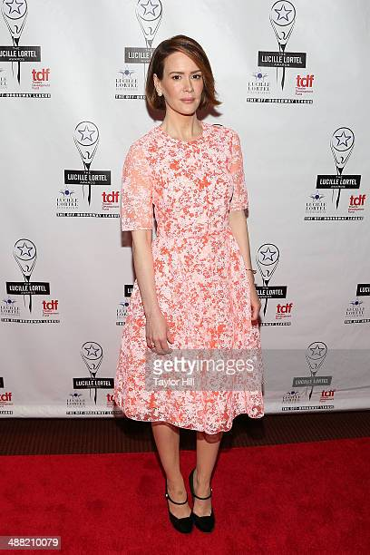 Actress Sarah Paulson attends the 29th Annual Lucille Lortel Awards at NYU Skirball Center on May 4 2014 in New York City