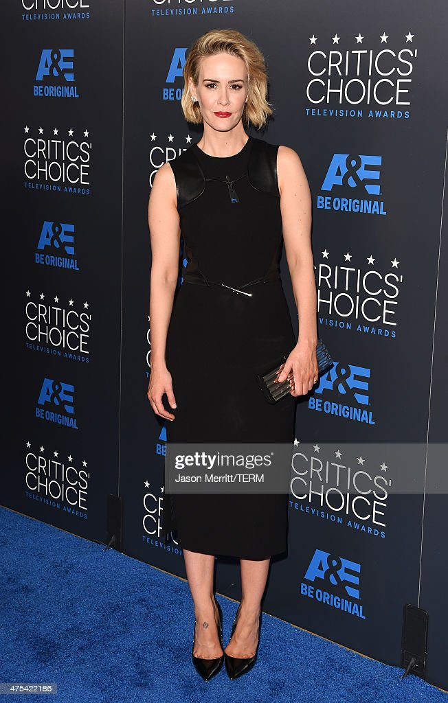 Actress Sarah Paulson attends the 5th Annual Critics' Choice Television Awards at The Beverly Hilton Hotel on May 31 2015 in Beverly Hills California