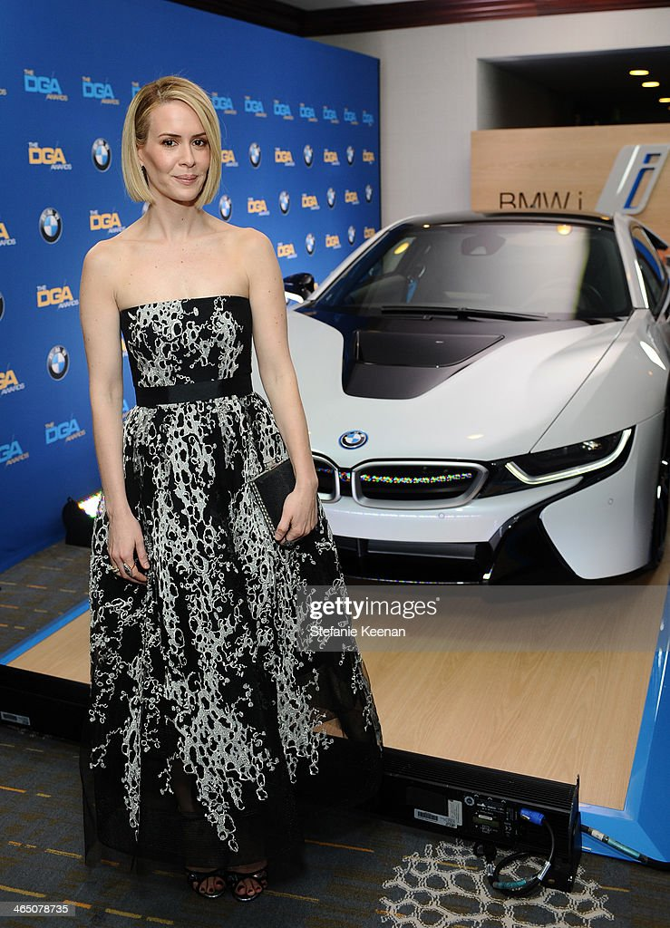 Actress <a gi-track='captionPersonalityLinkClicked' href=/galleries/search?phrase=Sarah+Paulson&family=editorial&specificpeople=220657 ng-click='$event.stopPropagation()'>Sarah Paulson</a> attends the 66th Annual Directors Guild Of America Awards held at the Hyatt Regency Century Plaza on January 25, 2014 in Century City, California.