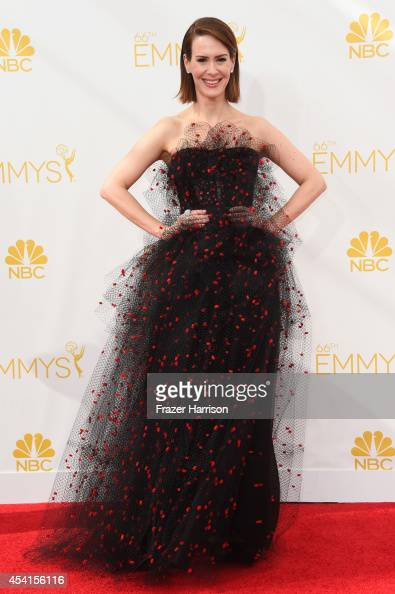 Actress Sarah Paulson attends the 66th Annual Primetime Emmy Awards held at Nokia Theatre LA Live on August 25 2014 in Los Angeles California